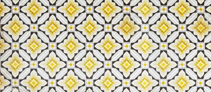 yellow and black flower pattern